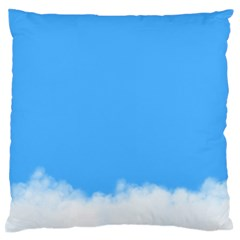 Blue Sky Clouds Day Standard Flano Cushion Case (one Side) by Simbadda