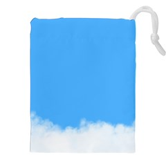 Blue Sky Clouds Day Drawstring Pouches (xxl)