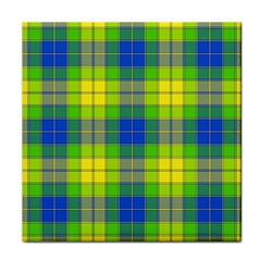 Spring Plaid Yellow Tile Coasters