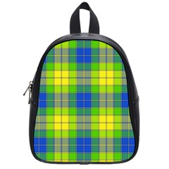 Spring Plaid Yellow School Bags (small)  by Simbadda