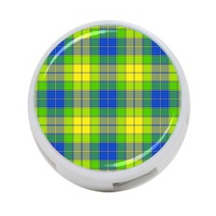 Spring Plaid Yellow 4 Port Usb Hub (one Side) by Simbadda