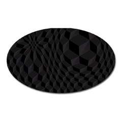 Pattern Dark Texture Background Oval Magnet by Simbadda