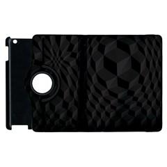 Pattern Dark Texture Background Apple Ipad 2 Flip 360 Case by Simbadda