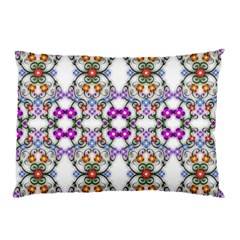 Floral Ornament Baby Girl Design Pillow Case by Simbadda