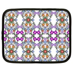 Floral Ornament Baby Girl Design Netbook Case (xxl)  by Simbadda