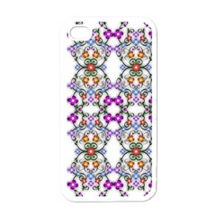 Floral Ornament Baby Girl Design Apple Iphone 4 Case (white) by Simbadda