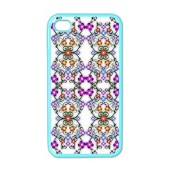 Floral Ornament Baby Girl Design Apple Iphone 4 Case (color) by Simbadda