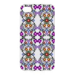 Floral Ornament Baby Girl Design Apple Iphone 4/4s Hardshell Case by Simbadda