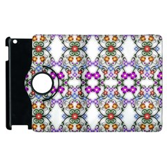 Floral Ornament Baby Girl Design Apple Ipad 2 Flip 360 Case by Simbadda