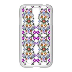 Floral Ornament Baby Girl Design Samsung Galaxy S4 I9500/ I9505 Case (white)