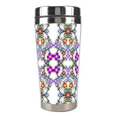 Floral Ornament Baby Girl Design Stainless Steel Travel Tumblers by Simbadda