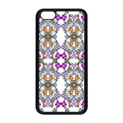 Floral Ornament Baby Girl Design Apple Iphone 5c Seamless Case (black) by Simbadda