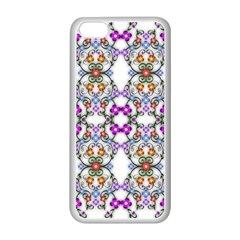 Floral Ornament Baby Girl Design Apple Iphone 5c Seamless Case (white) by Simbadda