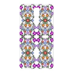 Floral Ornament Baby Girl Design Samsung Galaxy Note 3 N9005 Hardshell Back Case by Simbadda