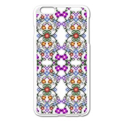 Floral Ornament Baby Girl Design Apple Iphone 6 Plus/6s Plus Enamel White Case by Simbadda