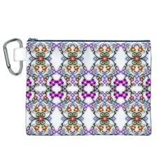 Floral Ornament Baby Girl Design Canvas Cosmetic Bag (xl) by Simbadda
