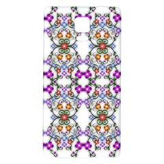 Floral Ornament Baby Girl Design Galaxy Note 4 Back Case by Simbadda