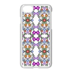 Floral Ornament Baby Girl Design Apple Iphone 7 Seamless Case (white) by Simbadda