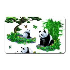 Cute Panda Cartoon Magnet (rectangular) by Simbadda