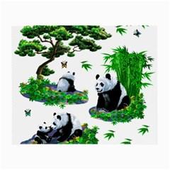 Cute Panda Cartoon Small Glasses Cloth by Simbadda