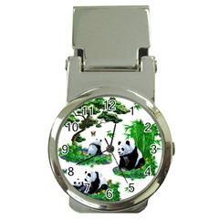 Cute Panda Cartoon Money Clip Watches by Simbadda