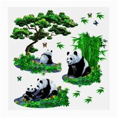 Cute Panda Cartoon Medium Glasses Cloth by Simbadda