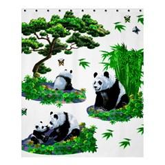 Cute Panda Cartoon Shower Curtain 60  X 72  (medium)  by Simbadda
