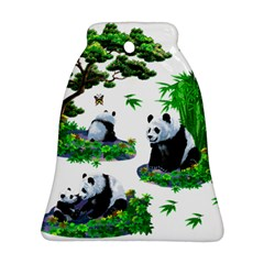 Cute Panda Cartoon Ornament (bell) by Simbadda