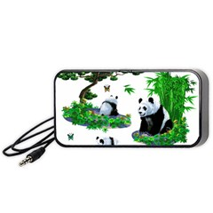 Cute Panda Cartoon Portable Speaker (black) by Simbadda