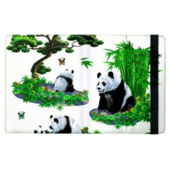 Cute Panda Cartoon Apple Ipad 3/4 Flip Case by Simbadda
