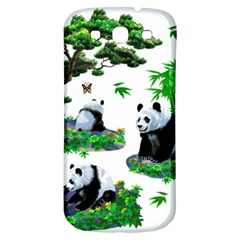 Cute Panda Cartoon Samsung Galaxy S3 S Iii Classic Hardshell Back Case by Simbadda