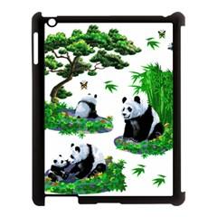 Cute Panda Cartoon Apple Ipad 3/4 Case (black) by Simbadda