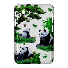 Cute Panda Cartoon Samsung Galaxy Tab 2 (7 ) P3100 Hardshell Case  by Simbadda
