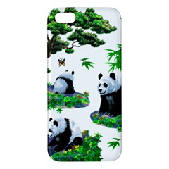 Cute Panda Cartoon Iphone 5s/ Se Premium Hardshell Case by Simbadda