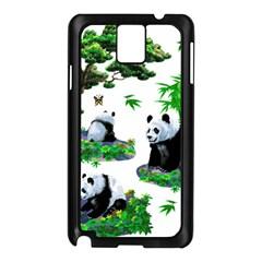 Cute Panda Cartoon Samsung Galaxy Note 3 N9005 Case (black) by Simbadda