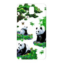 Cute Panda Cartoon Samsung Galaxy Note 3 N9005 Hardshell Back Case by Simbadda