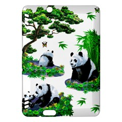 Cute Panda Cartoon Kindle Fire Hdx Hardshell Case by Simbadda