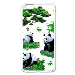 Cute Panda Cartoon Apple Iphone 6 Plus/6s Plus Enamel White Case by Simbadda