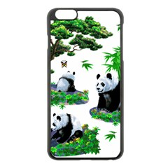Cute Panda Cartoon Apple Iphone 6 Plus/6s Plus Black Enamel Case
