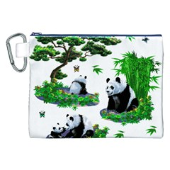 Cute Panda Cartoon Canvas Cosmetic Bag (xxl) by Simbadda