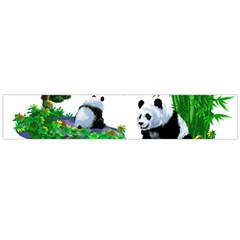 Cute Panda Cartoon Flano Scarf (large) by Simbadda