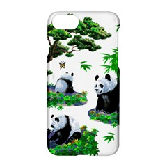 Cute Panda Cartoon Apple Iphone 7 Hardshell Case by Simbadda