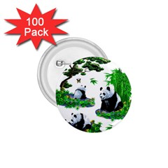 Cute Panda Cartoon 1 75  Buttons (100 Pack)  by Simbadda