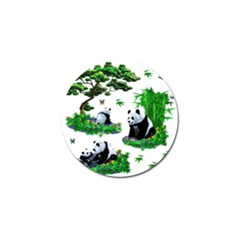 Cute Panda Cartoon Golf Ball Marker (4 Pack) by Simbadda