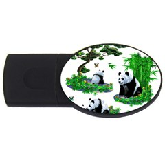 Cute Panda Cartoon Usb Flash Drive Oval (2 Gb)