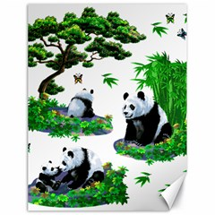 Cute Panda Cartoon Canvas 18  X 24   by Simbadda