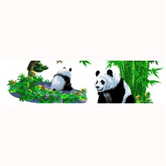 Cute Panda Cartoon Large Bar Mats by Simbadda