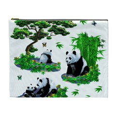 Cute Panda Cartoon Cosmetic Bag (xl) by Simbadda