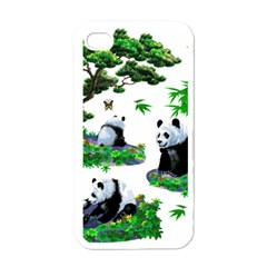 Cute Panda Cartoon Apple Iphone 4 Case (white) by Simbadda