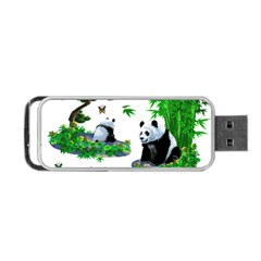 Cute Panda Cartoon Portable Usb Flash (one Side) by Simbadda